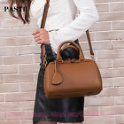 Genuine Leather Women Boston Bag Handbag Lady Tote Cross Body Bag Shoulder Bag