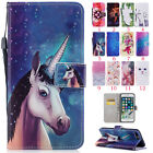 For iPhone Leather Pouch Stand Case Cover New Pattern Magnetic Flip Card Holde