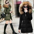 Women Jacket Winter Long Down Jacket Padded Coat Ladies Slim Hooded Parka#1608