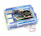 For Raspberry Pi 2 Pi 3 and Model B+Transparent Clear Case Box with Cooling Fan