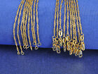 """Wholesale 5PCS Making Jewelry 18K Gold Filled """"Water Wave"""" Chains Necklaces GF"""