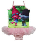 Kids Girls Toddler Trolls One-piece Summer Swimwear One Piece Swimming Swimsuit