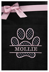 PERSONALISED EMBROIDERED DOG PUPPY CAT KITTEN FLEECE BLANKET WITH PET NAME