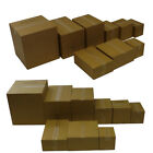 Single Wall Cardboard Moving Boxes Storage Home Removal Packed Postal Cartons