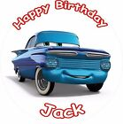 "RAMONE CARS 3 2017 ROUND 7.5""  CAKE TOPPER ICING OR RICEPAPER"
