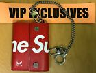 Louis Vuitton X Supreme Leather Chain Wallet Epi Leather - Red - M67755 RARE