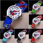Spiderman Leather Wrist Watch Lady Girl Women Teens Kids Cartoon Watches