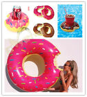 Inflatable Giant Donut Swimming Ring Pool/Donut Can Cup holder Water Float Raft