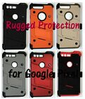 Deluxe Rugged Case, Holster, Tempered Glass Screen Protector for Google Pixel