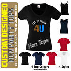 Custom Hen Party Tshirts Tank Vest Tops Wedding Bridal - Many Designs & Colours