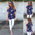 Fashion Womens Summer Loose TopS Short Sleeve Blouse FLORAL Casual Tops T-Shirt