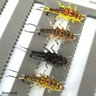 Riverruns Realistic Flies Mayfly Stone Fly Caddis Dry And Nymp 4 Colors Flies