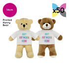 50 Personalised Henry Teddy Bears Promotional Logo Text Photo Printing Bulk