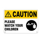 Caution Please Watch Your Children Activity Sign Pool Signs Aluminum METAL Sign $21.99 USD on eBay