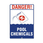Danger Pool Chemicals Style 2 Activity Sign Pool Signs Aluminum METAL Sign $19.99 USD on eBay