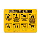 Follow instructions for Effective Hand Washing Aluminum METAL Sign $38.99 USD on eBay