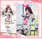 Female A.I.Channel Kizuna AI White Pick Uniform Cosplay Costume Suit Clothing