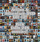 Action & Adventure DVD Lot #2: 248 Movies to Pick From! Buy Multiple And Save! $2.51 CAD