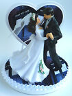 dr who cake topper - Wedding Cake Topper Doctor Who Dr. Themed Pretty Heart Dancing Couple w/ Garter