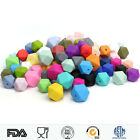 BPA Free Hexagon Silicone Teething Beads DIY Baby Toys Chewable Teether Making