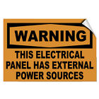 this is not a toy warning label - Warning This Electrical Panel Has External Power Sources LABEL DECAL STICKER