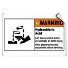 Hydrochloric Acid Wear Safety Equipment Cause Severe Injury LABEL DECAL STICKER