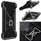 Shockproof Metal Aluminum Hybrid Ring Stand Bumper Case Cover For Various Phones
