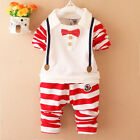 2pcs Boys Toddler Baby Kids Shirt Tops+Long Pants Clothes Outfits Gentleman Set