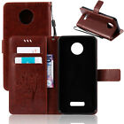 For Motorola Moto Phone Case Stylish Pattern Leather Strap Stand Wallet Cover