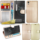 LuxuryGold Rose Gold Wallet Leather Case Flip Cover-Guard For Sony Xperia Phones