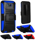 For ZTE Majesty Pro Tempo N9131 Dual Layer Hybrid Holster Clip Stand Cover Case