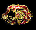 Hand-made Grenadine Sequins Chinese Dragon Patch Embroidery Golden/Silvery Be