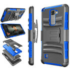 For LG Stylo 2/LG Stylo 2 Plus Holster Clip Shockproof Hybrid Rugged Hard Case