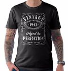 Vintage Aged to Perfection 1947 70th Birthday Present T Shirt 70 Years Old Gift