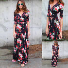 Us Women Boho Long Maxi Dress Floral Vintage Summer Evening Party Beach Sundress