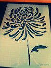 Chrysanthemum Flower reusable floral STENCIL for home wall interior design decor
