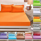 Bed Bedspread Sheet Soft Elastic Mattress Cotton Cover Twin Full Queen Size image