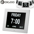 Digoo DG-K8 8'' Memory Loss Home Office Digital LCD ALARM Day CLOCK Calendar