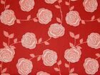 FQ Red Floral - 100% Cotton - MODA - Quilting Patchwork Crafts