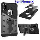 Shockproof Case For iPhone 8 Hybrid Armor Rugged 360 Rotating Stand Back Cover