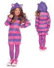Girls Cozy Cheshire Cat Halloween Costume