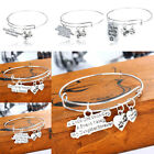 Family Love Pet Dog Paw Heart Bracelet Bangle Sister BFF Daughter Pendant Girl