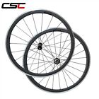 CSC Carbon Road Wheel 23mm Wide 38mm Clincher Alloy Brake Surface Straight Pull