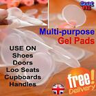 Clear Gel Pad Stick On Protectors 4 Doors, Cupboards, Shoes, Handles, Loo Seats
