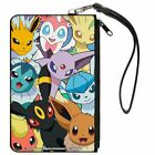 Eevee Evolution Pokmon Faces Close Up Stacked Canvas Zipper Wallet