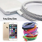 1M/2M/3M Braided Lightning Sync Data Cable USB Charger for iphone 5c 5S 7 6 Plus