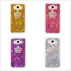 Bling Glitter Diamond Crown Dynamic Sparkle Liquid Quicksand Phone Case Cover