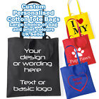 CUSTOM PRINTED Cotton tote bag any logo wording team work business party promo