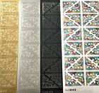 Ornamental Corners Peel Off Stickers Card Making Craft Black Multi Silver Gold