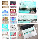 Rubberized Hard Case Shell Painting Cover For Macbook Pro AIR+ Matched Keyboard